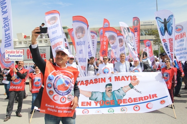 BİRLEŞİK KAMU İŞ KONFEDERASYONU 1 MAYIS'I TANDOĞAN MEYDANI'NDA KUTLADI