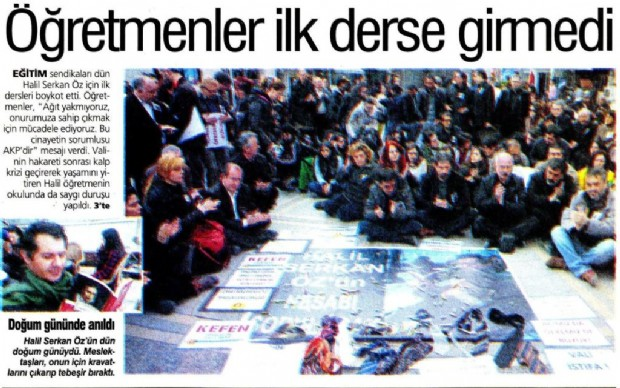 Dün tüm Türkiye'de Öğretmenler
