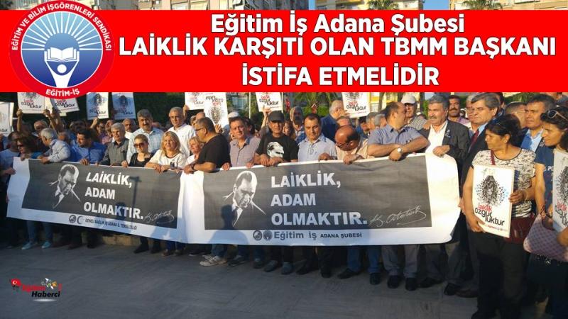 Eğitim İş Adana Şubesi Laiklik Basın Açıklaması