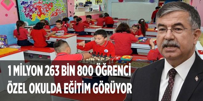 -1 MİLYON 263 BİN 800 ÖĞRENCİ ÖZEL OKULDA EĞİTİM GÖRÜYOR