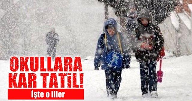 12 Ocak Perşembe Okullara Kar Tatili Olan İller