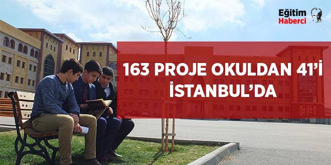 -163 PROJE OKULDAN 41'İ İSTANBUL'DA