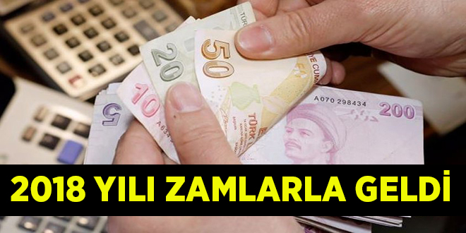 2018 YILI ZAMLARLA GELDİ