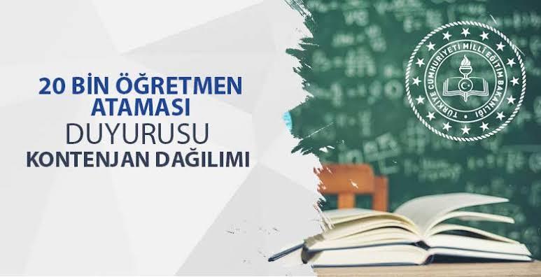 2019 Mart Sözleşmeli Öğretmen Atama Duyurusu