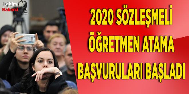 2020 Sözleşmeli Öğretmen Başvuruları Başladı