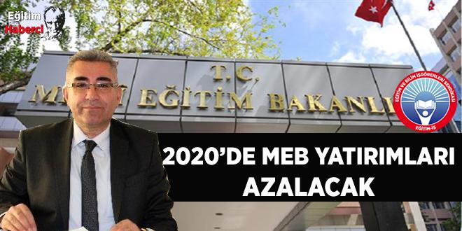 2020'DE MEB YATIRIMLARI AZALACAK