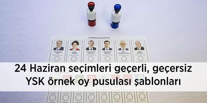 24 Haziran seçimleri geçerli, geçersiz YSK örnek oy pusulası şablonları