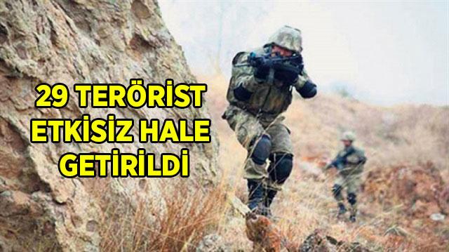-29 TERÖRİST ETKİSİZ HALE GETİRİLDİ