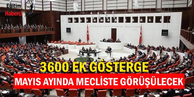 3600 EK GÖSTERGE MAYIS AYINDA MECLİSTE GÖRÜŞÜLECEK