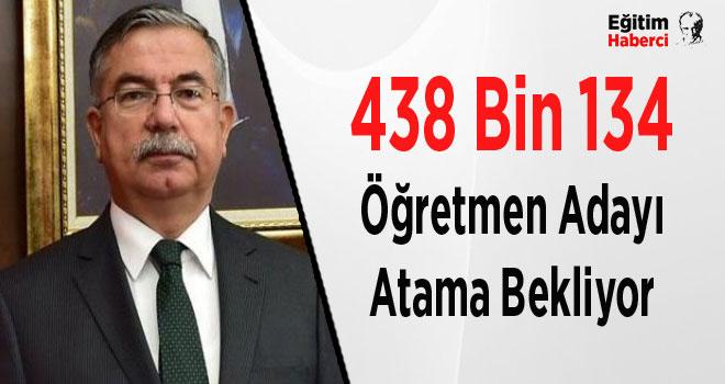 438 Bin 134 Öğretmen Adayı Atama Bekliyor