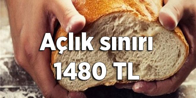 Açlık sınırı 1480 TL