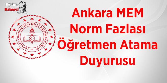 Ankara MEM, norm fazlası öğretmenlerin atamasını yapacak
