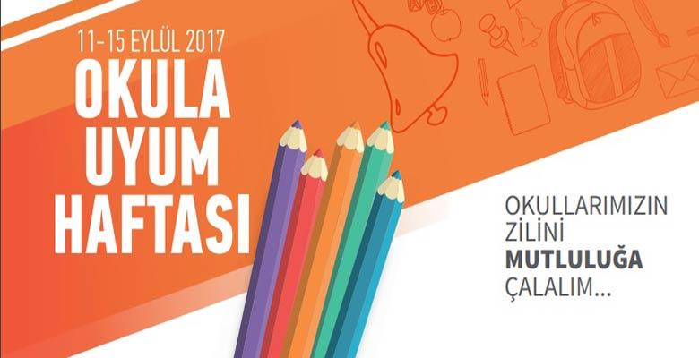 Birinci ve beşinci sınıf 11-15 Eylül 2017 okula uyum haftası programı