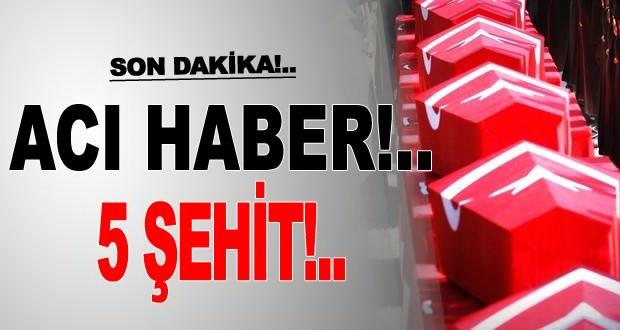 Bitlis,Şırnak ve Kars'tan acı haber:5 Şehidimiz Var