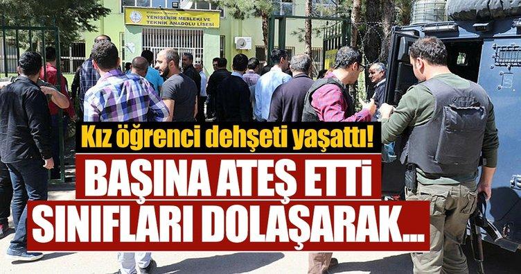 Diyarbakır'da lise karıştı! Kız öğrenci, okula getirdiği tabancayla kendisini vurdu