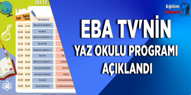 EBA TV'nin yaz okulu programı açıklandı