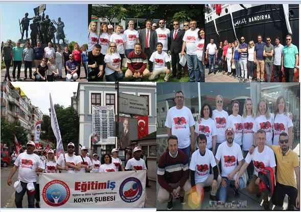 Eğitim-İş, 19 Mayıs'ın 100. yıldönümünü Samsun'da kutladı