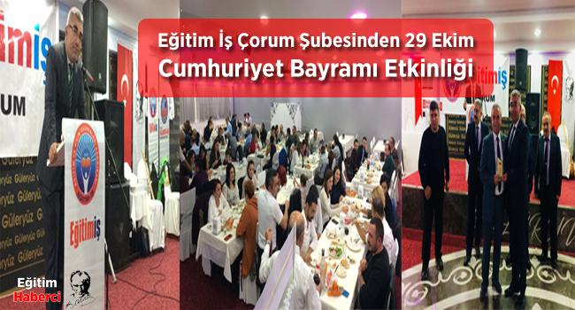 Eğitim İş Çorum Şubesinden 29 Ekim Cumhuriyet Bayramı Etkinliği