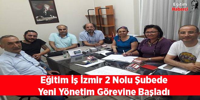 Eğitim İş İzmir 2 Nolu Şubede Yeni Yönetim Görevine Başladı