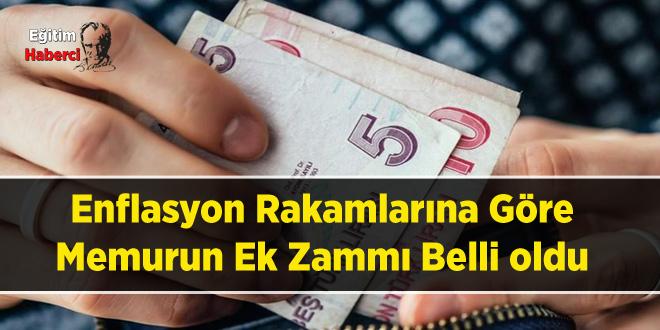 Enflasyon Rakamlarına Göre Memurun Ek Zammı Belli oldu