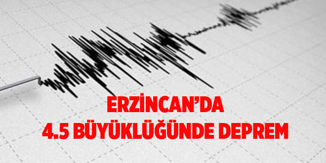 -ERZİNCAN'DA 4.5 BÜYÜKLÜĞÜNDE DEPREM