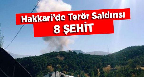 Hakkari'de Terör Saldırısı: 8 Şehit