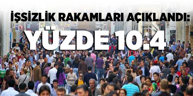 -İŞSİZLİK RAKAMLARI AÇIKLANDI: YÜZDE 10.4