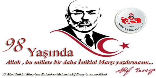 İstiklal Marşı'mızın Kabulünün 98. Yılı Kutlu Olsun