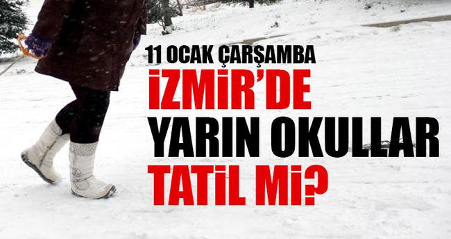 İzmir'de yarın okullar tatil mi?