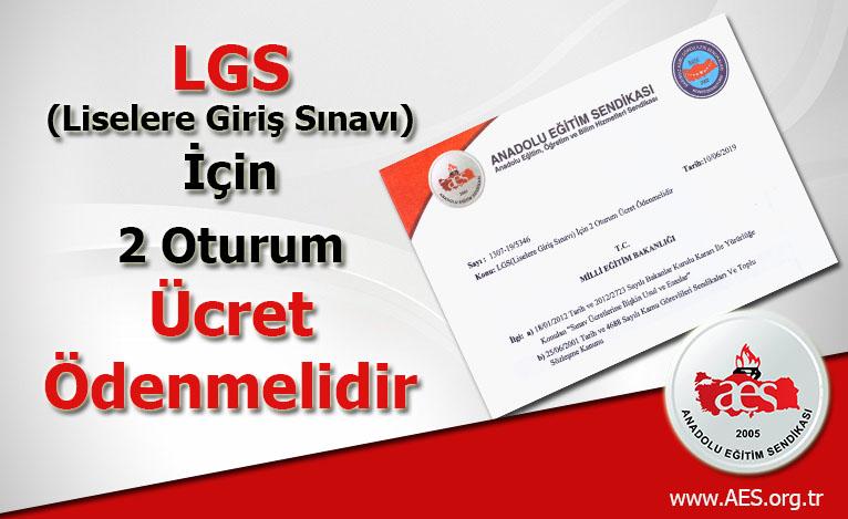 LGS(Liselere Giriş Sınavı) İçin 2 Oturum Ücret Ödenmelidir