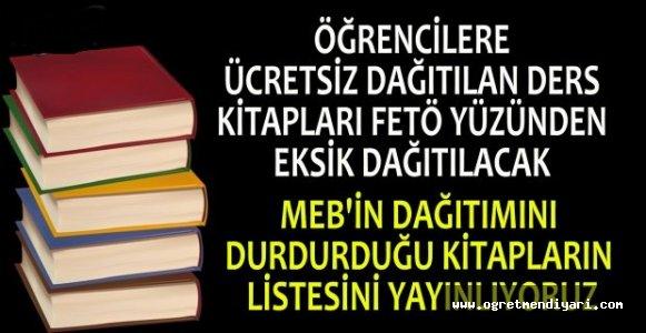 MEB 2016-2017 Yasaklı Ders Kitapları Listesi