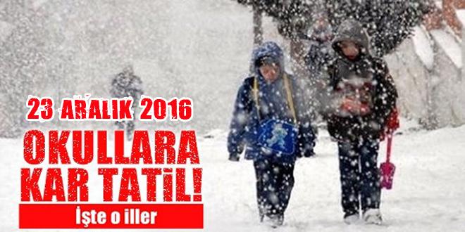 MEB açıklaması! Kar tatili olan illerin listesi | 23 Aralık Cuma