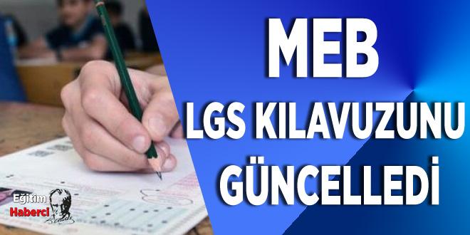 MEB LGS Kılavuzunu  Güncelledi