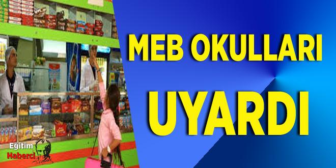 MEB OKULLARI UYARDI