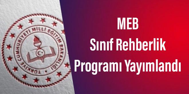 MEB Sınıf Rehberlik Programı Yayımlandı