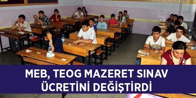 MEB, TEOG mazeret sınav ücretini değiştirdi