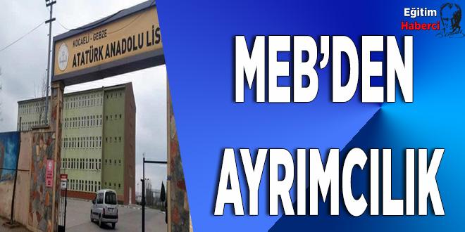 MEB'den ayrımcılık