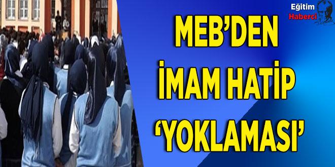 MEB'den imam hatip 'yoklaması'
