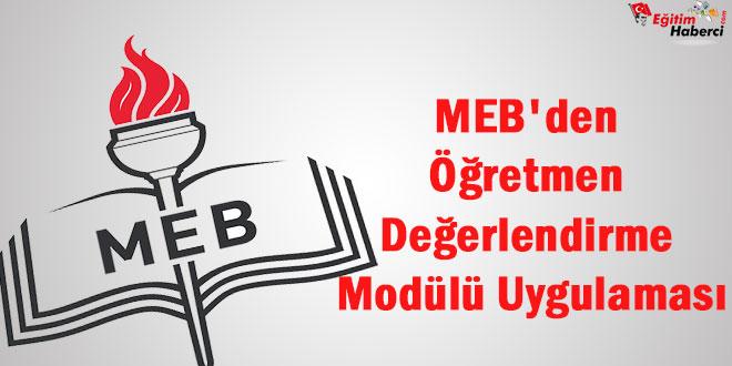 MEB'den Öğretmen Değerlendirme Modülü Uygulaması