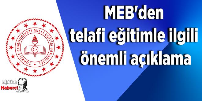 MEB'den telafi eğitimle ilgili önemli açıklama