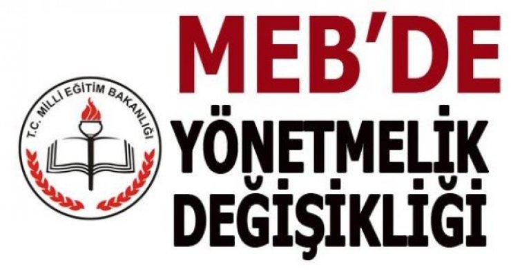 MEB'den Yönetmelik Değişikliği