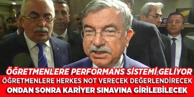 ÖĞRETMENLERE PERFORMANS SİSTEMİ GELİYOR