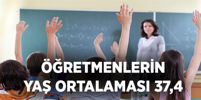 -ÖĞRETMENLERİN YAŞ ORTALAMASI 37,4