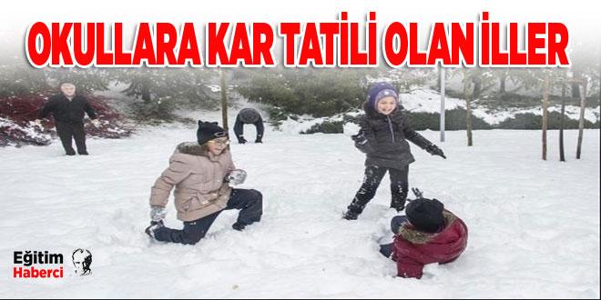 Okullara Kar Tatili Olan İller-30 Aralık 2016 Cuma