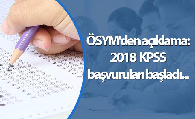 ÖSYM'den açıklama: KPSS başvuruları başladı