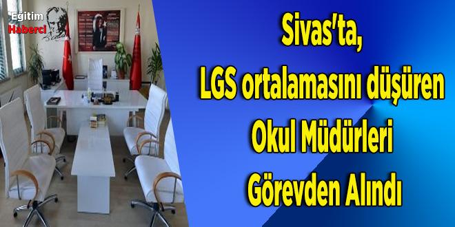 Sivas'ta,  LGS ortalamasını düşüren  Okul Müdürleri  Görevden Alındı