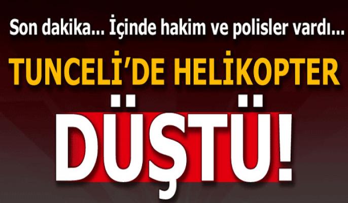 Son Dakika:Tunceli'de helikopter düştü!