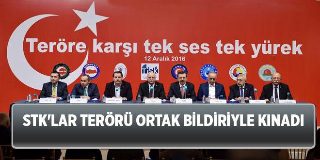 -STK'LAR TERÖRÜ ORTAK BİLDİRİYLE KINADI