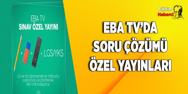 TRT EBA TV'DE LGS VE YKS HAZIRLIK ÖĞRENCİLERİNE ÖZEL YAYIN BAŞLIYOR