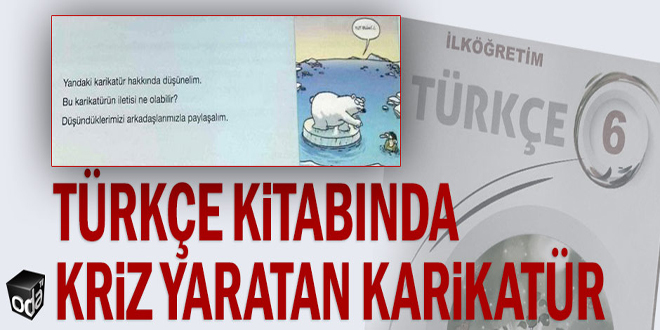 Türkçe kitabında kriz yaratan karikatür
